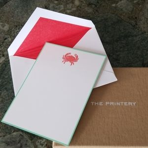 Blank Note Cards - Crab/Zodiac Cancer Sign